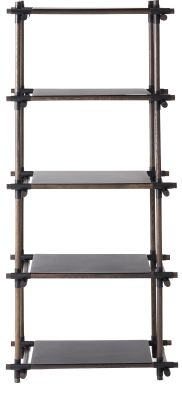 Stick System Shelving, 1x5 White