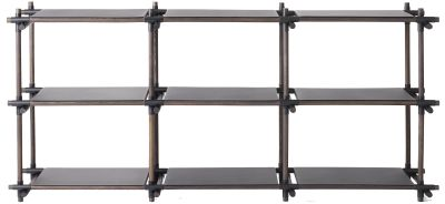 Stick System Shelving, 3x3 Grey