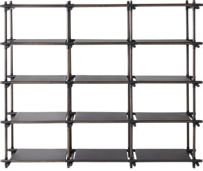 Stick System Shelving, 3x5 Grey