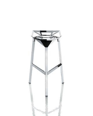 Stool_One High Stool - Set of 2 Polished Aluminium, 74cm