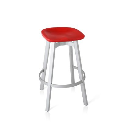 Su Bar Stool Aluminium, Red