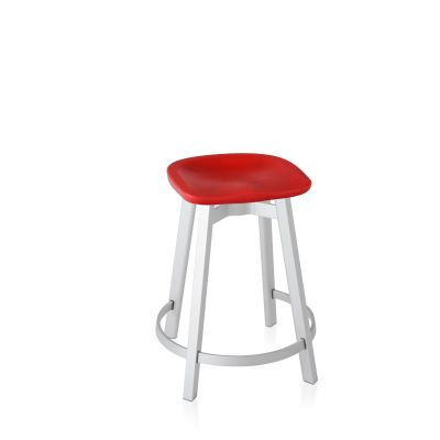 Su Counter Stool Aluminium, Red