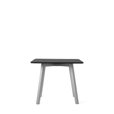 Su Side Table Aluminium, Black Laminate