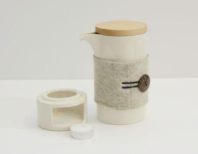 Teapot Mug and Candleholder Glossy White