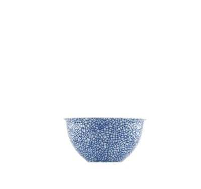 The White Snow Agadir - Large Bowl Blue Pattern