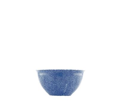 The White Snow Agadir - Medium Bowl Blue Pattern