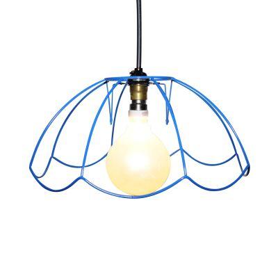 """Tiffany Skeleton Lampshade 12"""", Blue"""