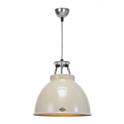 Titan Size 1 Pendant Light Putty Grey with Bronze Interior