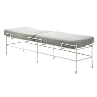 Traffic 2 Seater Bench Steelcut Trio 2 953 Fabric and Dark Green Frame
