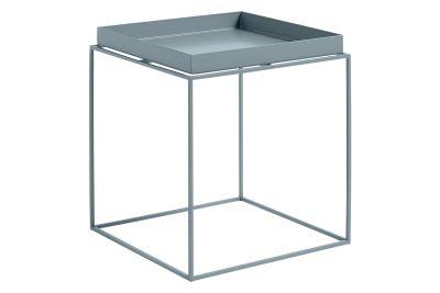 Tray Square Side Table Blue, Medium