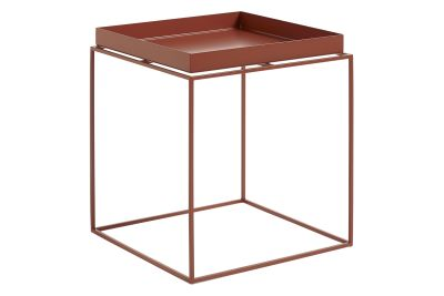 Tray Square Side Table Red, Medium