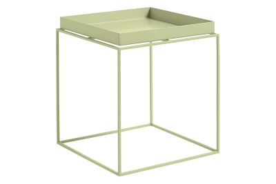 Tray Square Side Table Soft Yellow, Medium