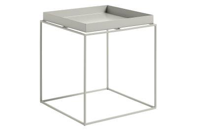 Tray Square Side Table Warm Grey, Medium
