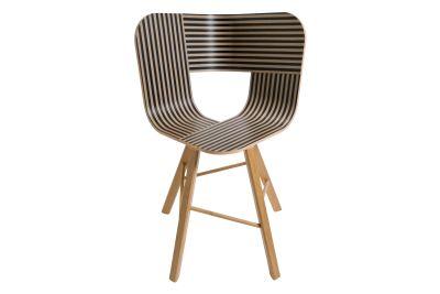 Tria Four Legged Dining Chair Black, Ivory