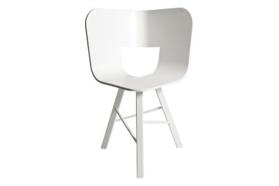 Tria Three Legged Dining Chair White