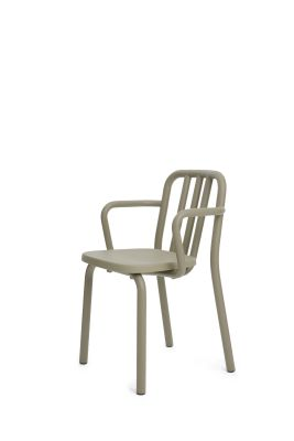 Tube Armchair Olive Grey