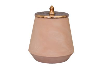 Tunisia Made Tall Jar Copper
