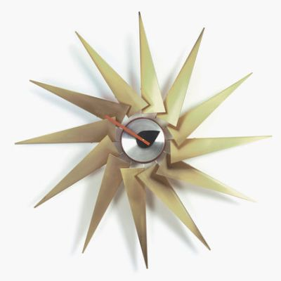 Turbine Clock brass/aluminium