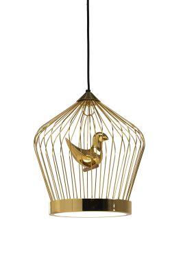 Twee T. Lamp Small 24 carat gold painted metal