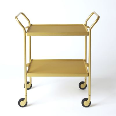 Two Tier Modern Trolley Gold
