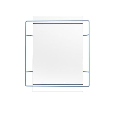 Untitled Rectangular Mirror Blue