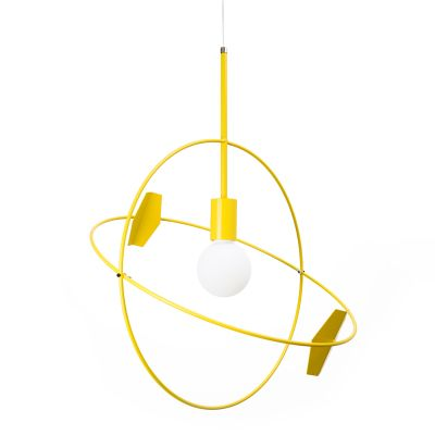 Untitled Sun Pendant Light Yellow