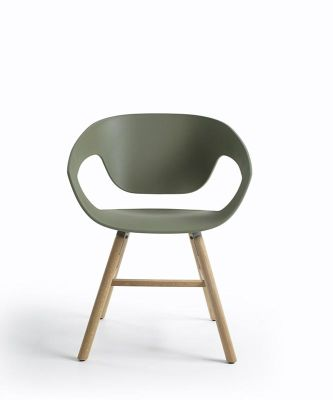 Vad Wooden Chair Walnut painted oak, Sand