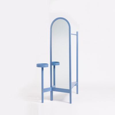 Valet Stand Pigeon Blue Lacquered Ash