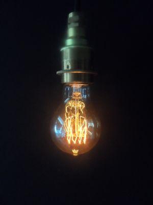 Vintage Fourloop Lightbulb