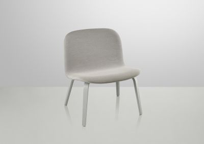 Visu Lounge Chair - Textile Shell Steelcut Trio 133 / Grey