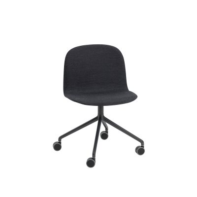 Visu Wide Chair / Swivel With Castors - Upholstered Elmo Soft Leather 00100