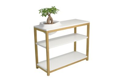 Volcane Console Table White