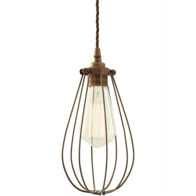 Vox Vintage Cage Pendant  Powder Coated Bronze