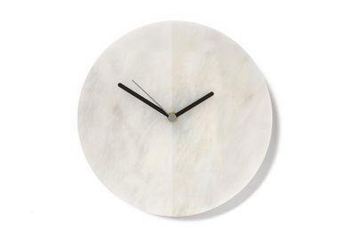 White Marble Moon Clock
