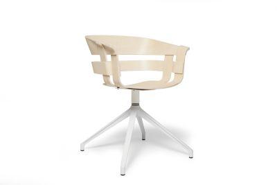 Wick Chair - Swivel Base Ash seat, white base