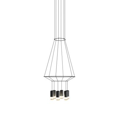 Wireflow Chandelier 6 Leds 40cm, Included