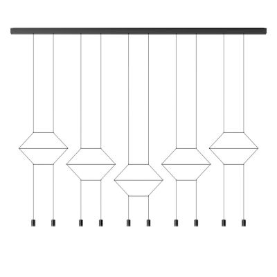 Wireflow Lineal Pendant Light - 10 LEDs 81cm