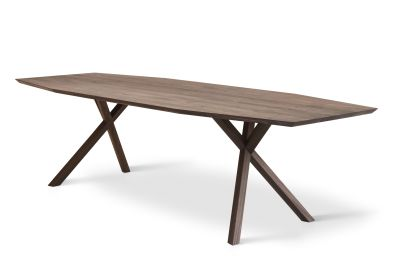 XY Trapezium Table Matt Lacquered Walnut, 105x240 cm