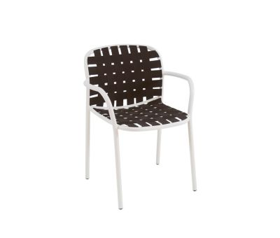 Yard Armchair - Set of 4 Matt White - White/Grey
