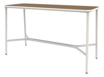 Yard Counter Table with Heat-Treated Ash Top Matt White - Heat-Treated Ash, Medium