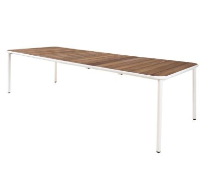 Yard Extensible Table with Heat-Treated Ash Top Matt White - Heat-Treated Ash