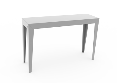 Zef Indoor Console Table 120x35 White, Yes, Straight Legs