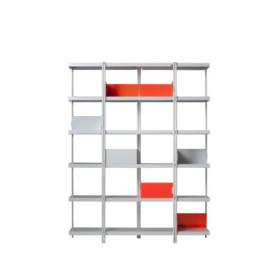 Zigzag High Bookcase White