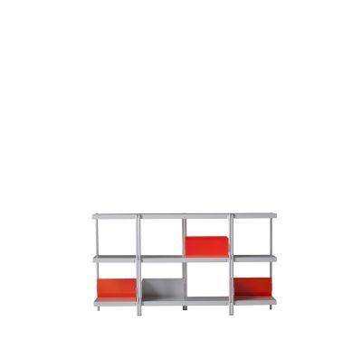 Zigzag Low Bookcase White
