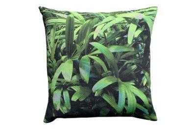 Zingy Palm Print Square Cushion Large