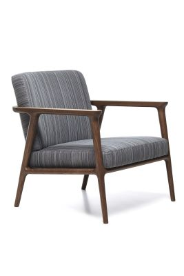Zio Lounge Chair Cervino Leather Anthracite, Moooi White Washed & Cinnamon