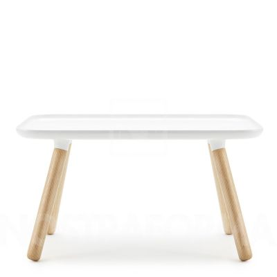 Tablo Rectangular Coffee Table White top/ natural legs