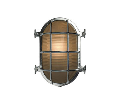7035 Oval Brass Bulkhead with Internal Fixing, Chrome Plated by Davey Lighting Limited