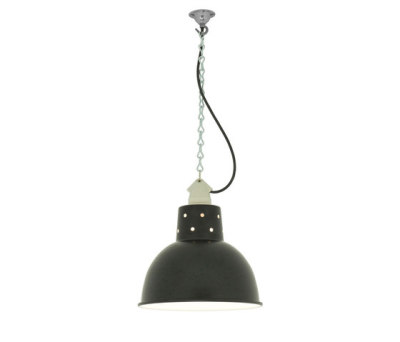 7165 Spun Reflector with Suspension Lampholder, Painted Black by Davey Lighting Limited