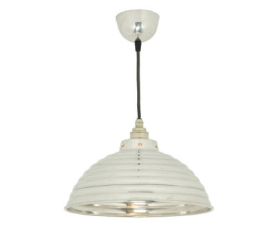 7170 Spun Ripple with Cord Grip Lampholder, Polished Aluminium by Davey Lighting Limited